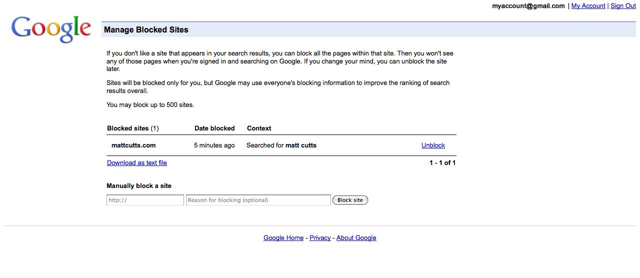 Blocage Google 3