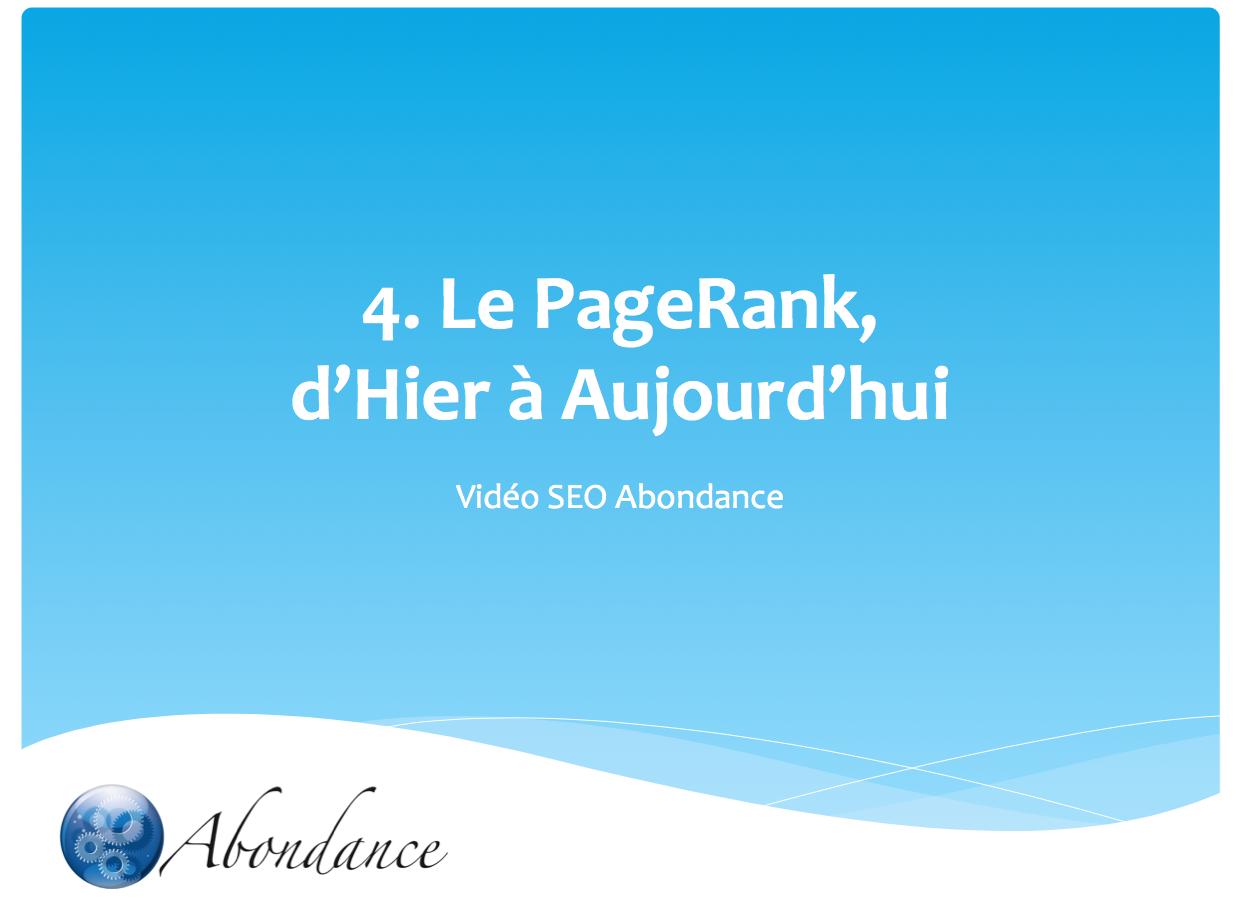 Video N°4 : le PageRank, d'hier à aujourd'hui