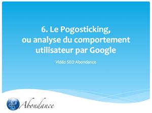 Video N°6 : Le Pogosticking, ou analyse du comportement utilisateur par Google