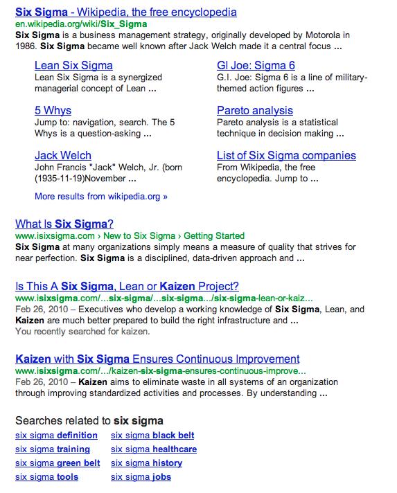 serp google 4 liens