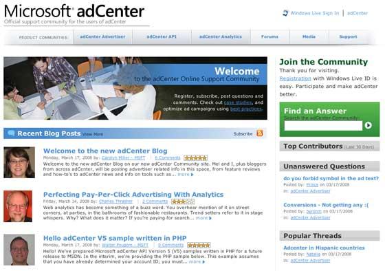 Microsoft AdCenter Community