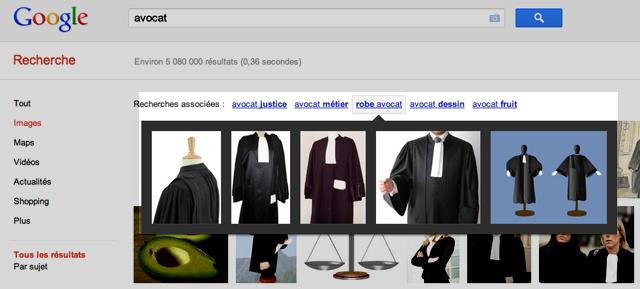 Requetes connexes google images