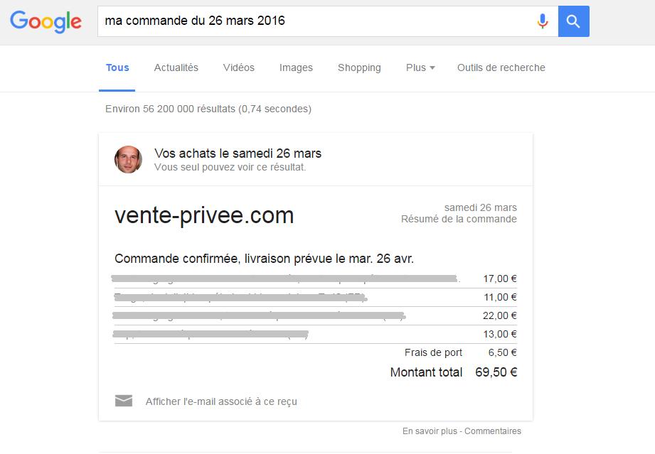 google achat serp vente privee