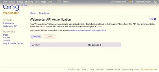 API Bing WT