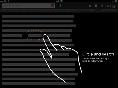 Bing iPad Clic and Search