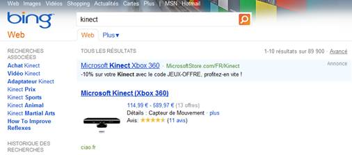 Bing France Ciao