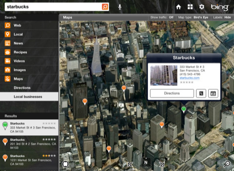 Bing for iPad 3