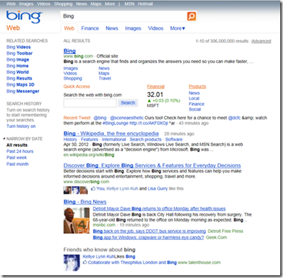 Bing ancienne version