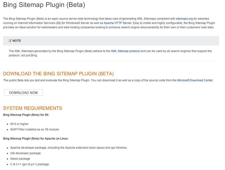 bing-sitemap-plugin