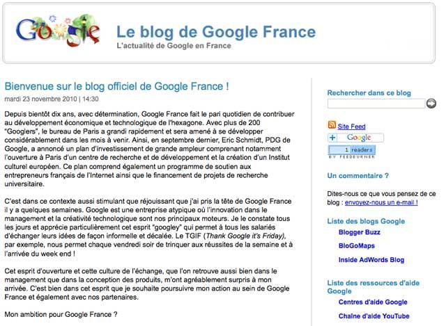 Blog Google France