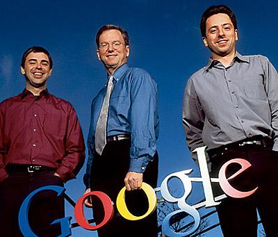 Brin, Page, Schmidt : Google