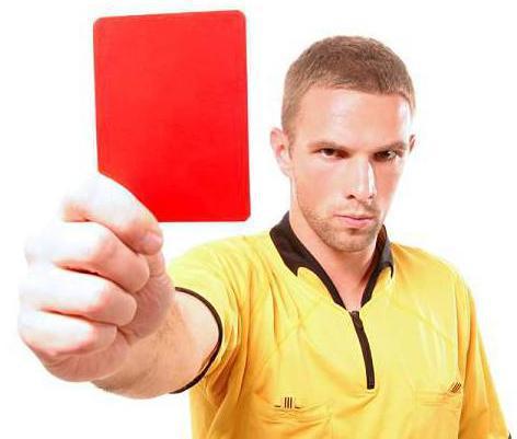 carton rouge penalite