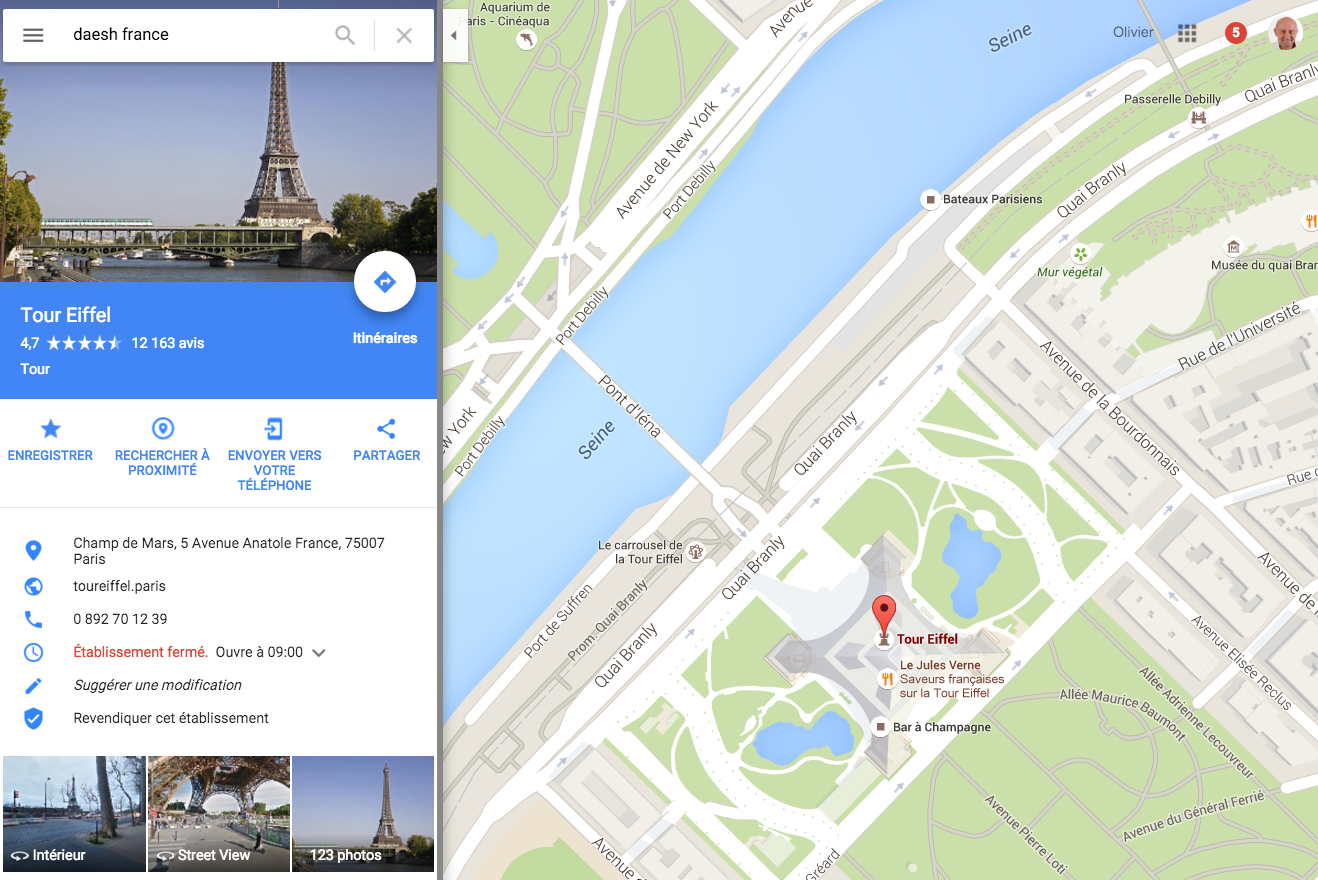 daesh-france-google-maps