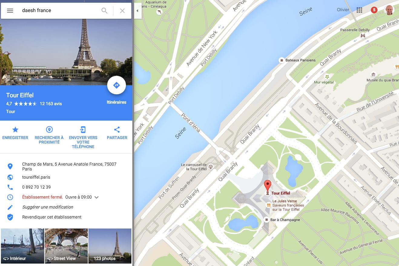 daesh-france-google-maps