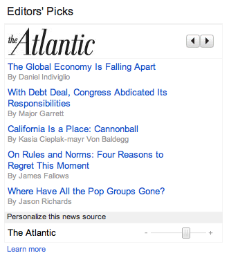 Google News Editors' Picks