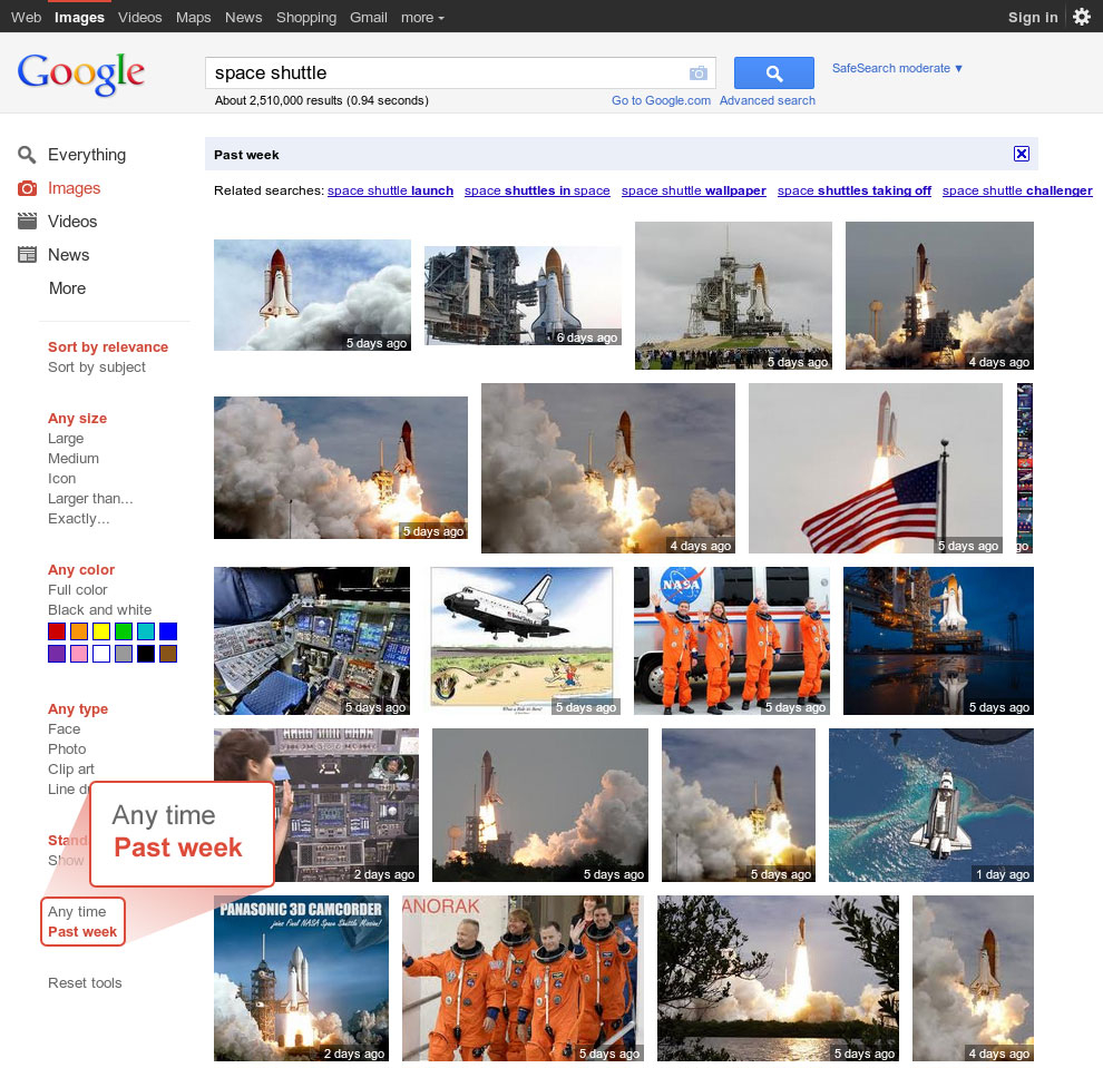 Google Images Space Shuttle
