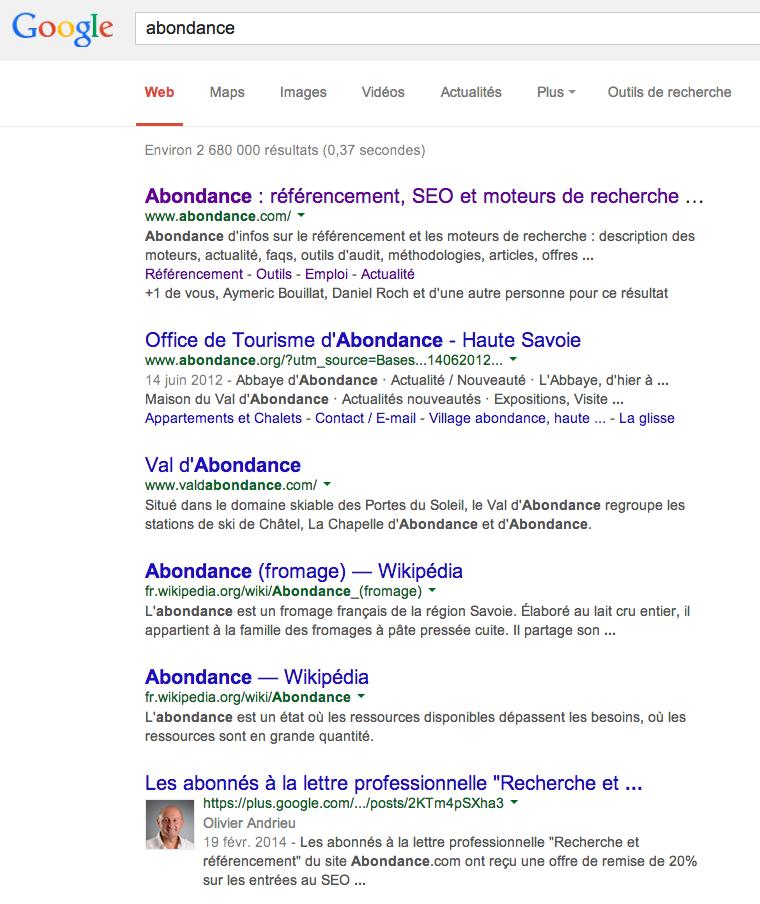 google-abondance-2014