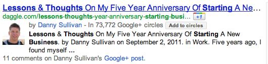Google Author 2011