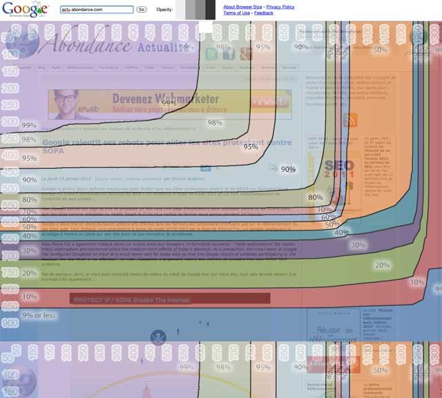 Google Browser Size