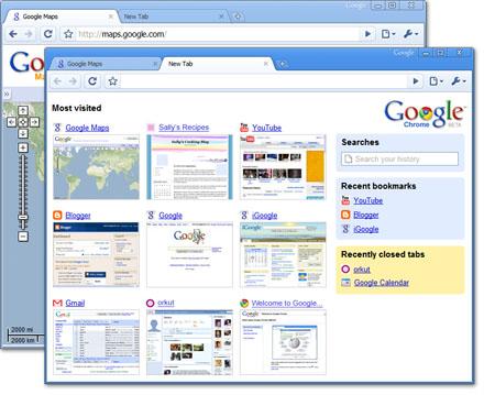 Google Chrome copie d'ecran