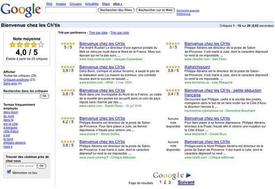 Google France Cinéma