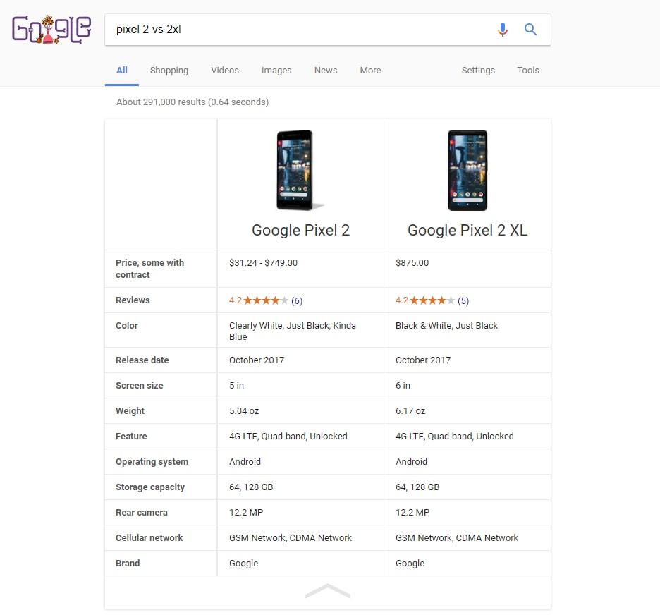 google-comparaison-smartphones