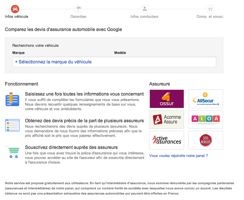 comparateur assurances google