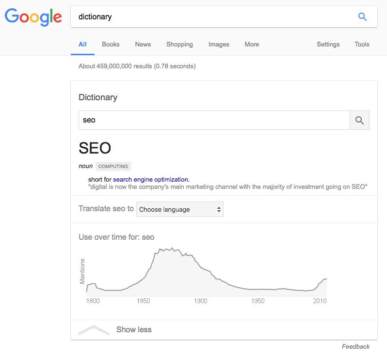 google-dictionnaire