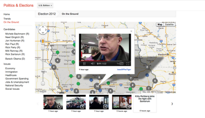 Google elections americaines 2012