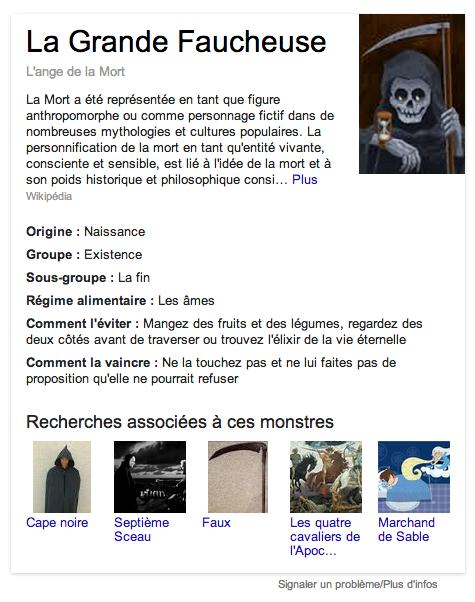 google halloween faucheuse
