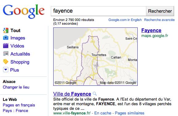 Heiligenstein sur Google