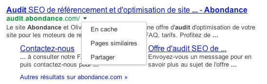 google-fleche-verte