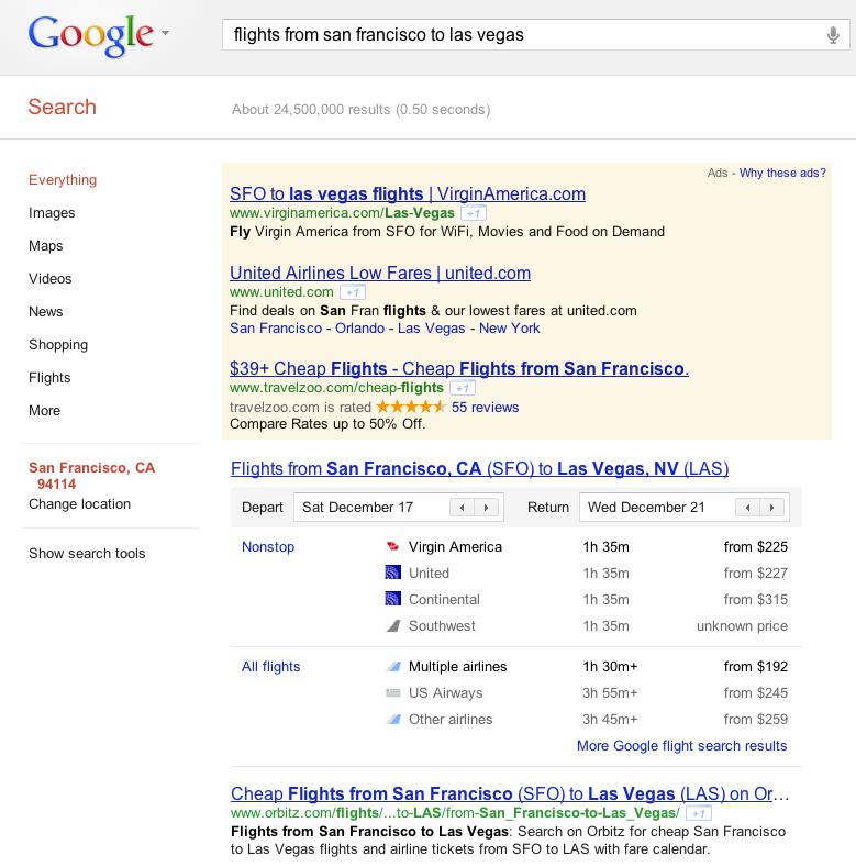 Google horaires vols aeriens