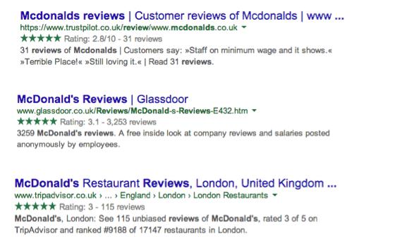 google-green-stars-ratings-reviews