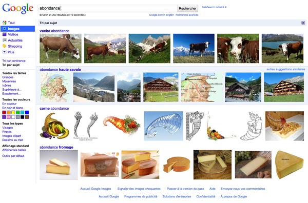 Google images tri par sujet