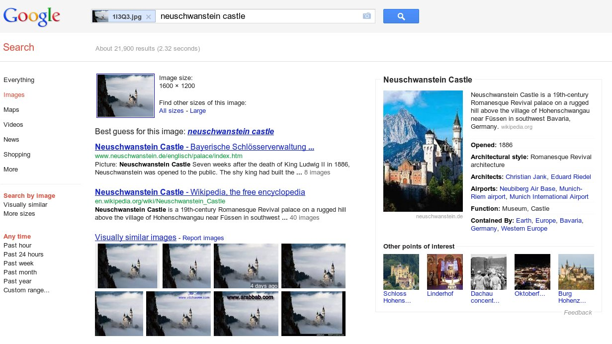 Google images knowledge graph