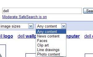 Filtres images Google