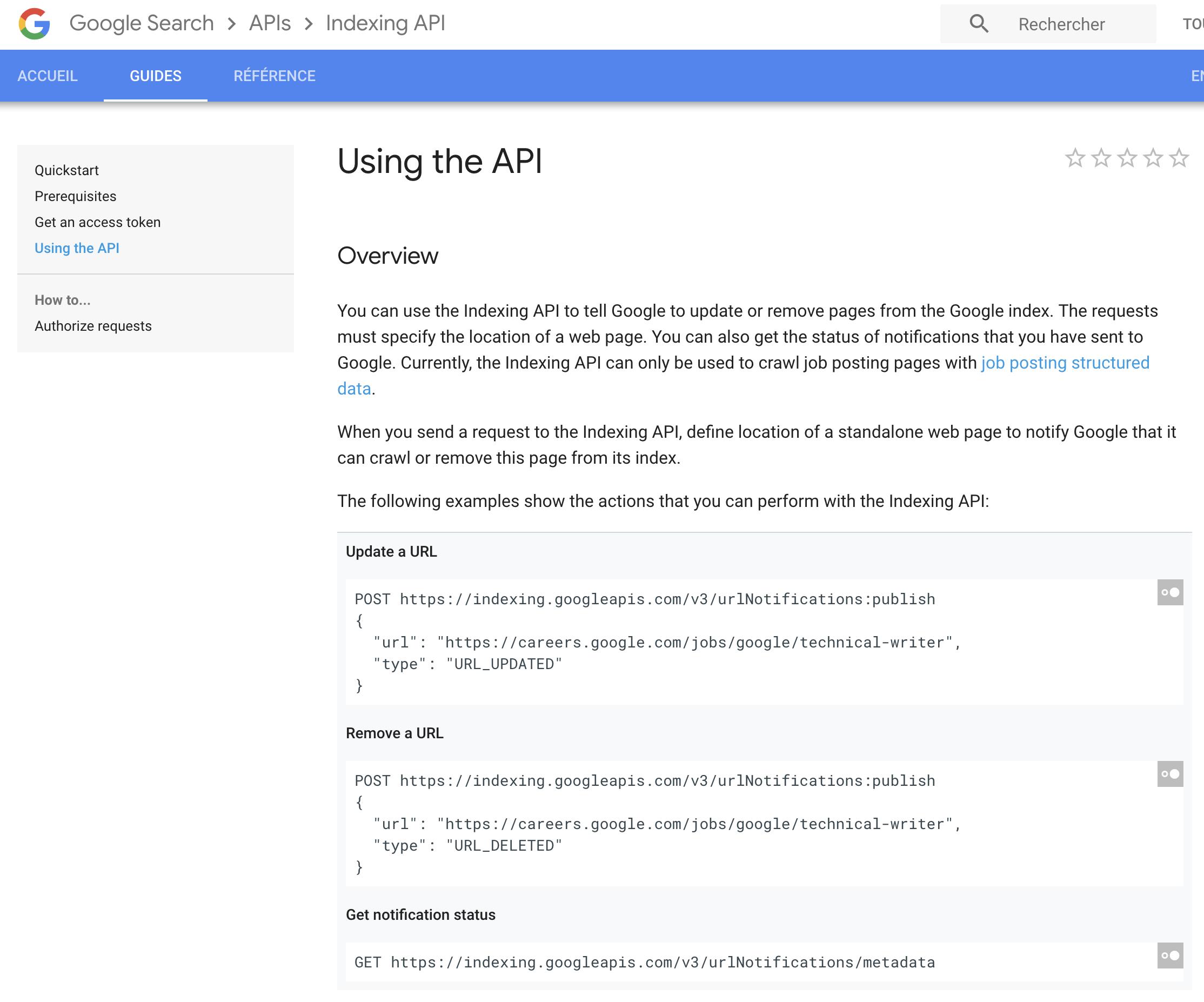 google-indexing-api
