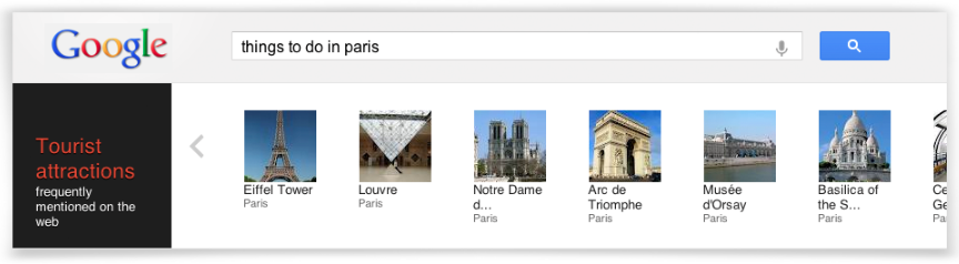 Google Knowledge Graph Paris