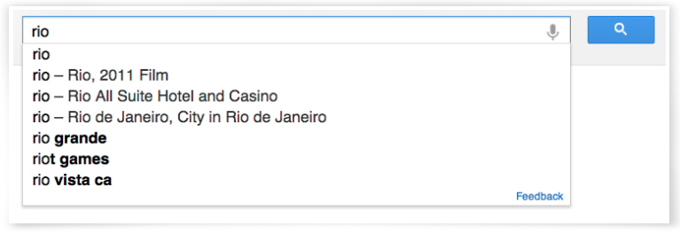 Google Knowledge Graph Rio