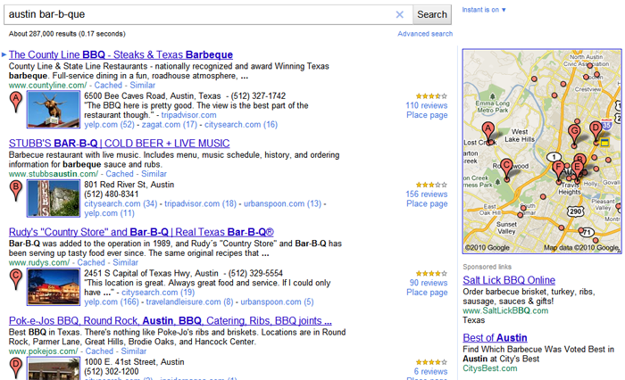 Google Local 2010