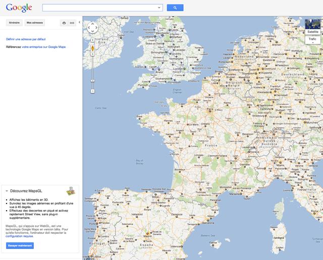 Homepage Google Maps