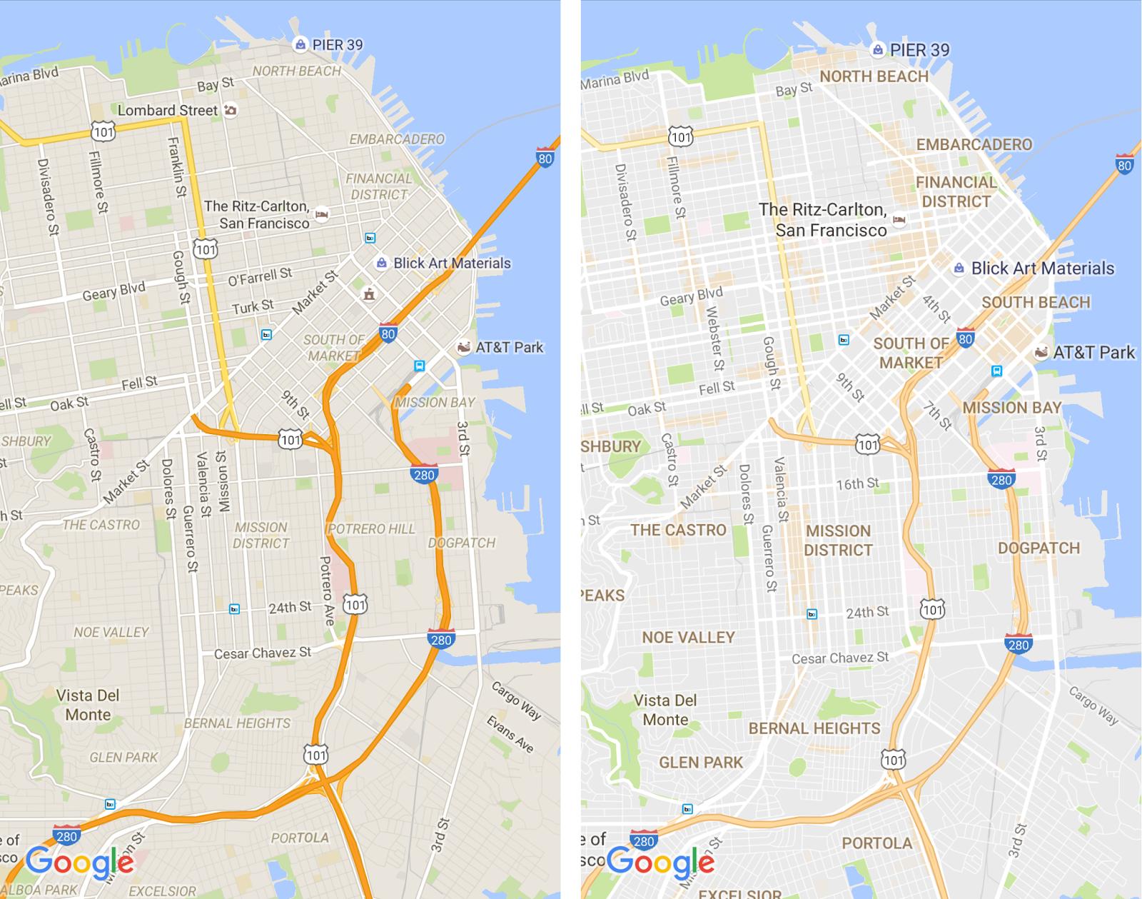 Google Maps : meilleure visibilité et amélioration des centres d'intérêt