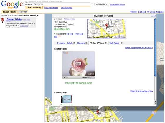 vidéo Youtube dans Google Maps