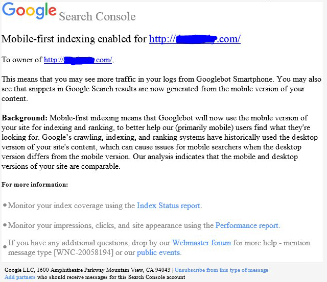 google-mobile-first-indexing-notification-search-console