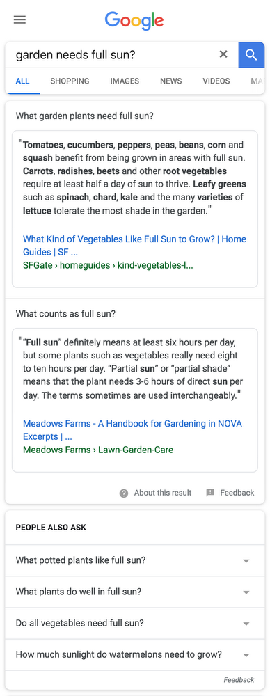 google-multifaceted-featured-snippets
