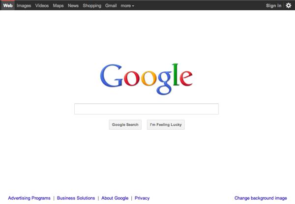 Google nouveau design 2011