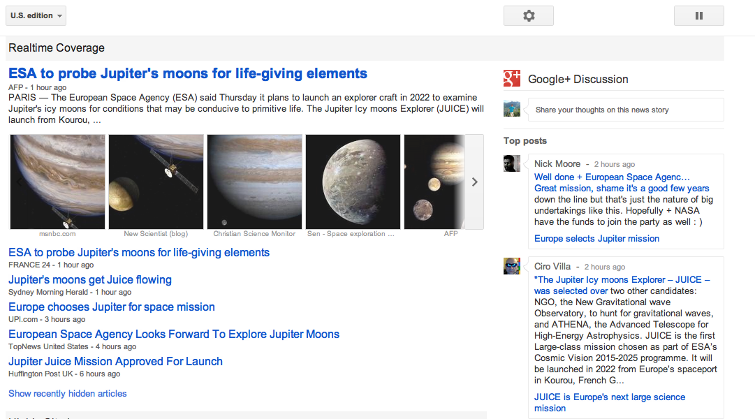 Google News Real Time