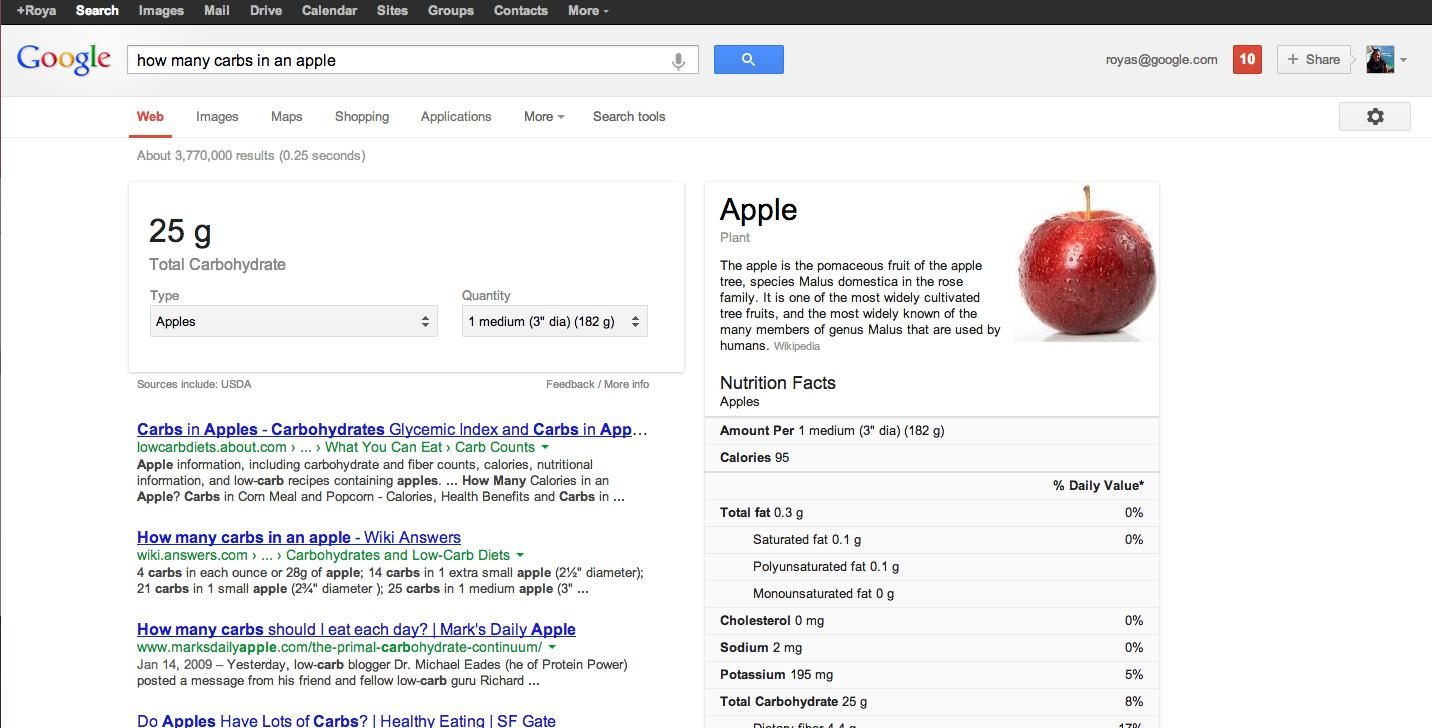 google-nutrition