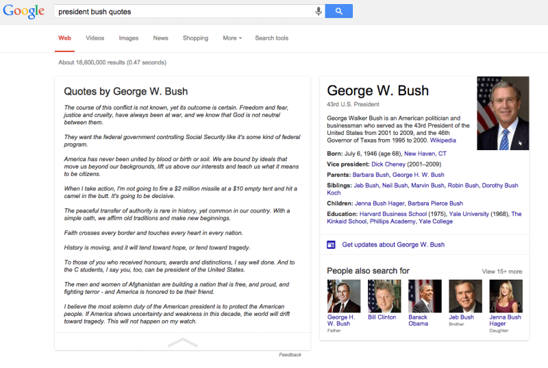 google-quotes-george-bush